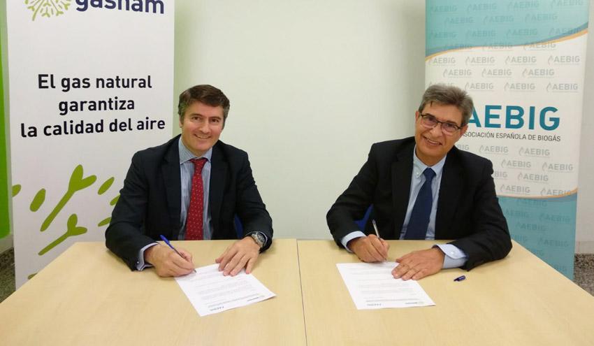 Gasnam y la Asociación Española de Biogás firman un acuerdo de colaboración