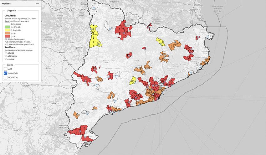 Las aguas residuales confirman la evolución creciente de la presencia del virus en Cataluña