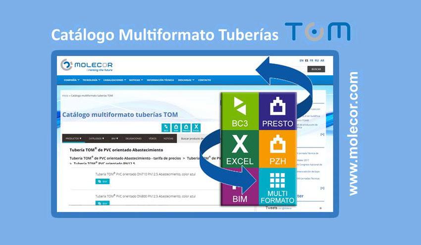 Novedades en el Catálogo Multiformato Tuberías TOM® de Molecor