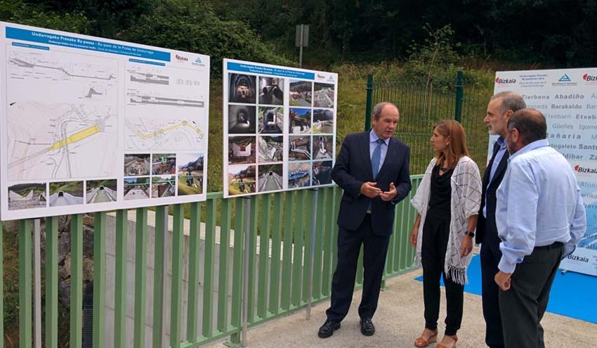 El by-pass de Undurraga reforzará la garantía de abastecimiento del Bilbao metropolitano