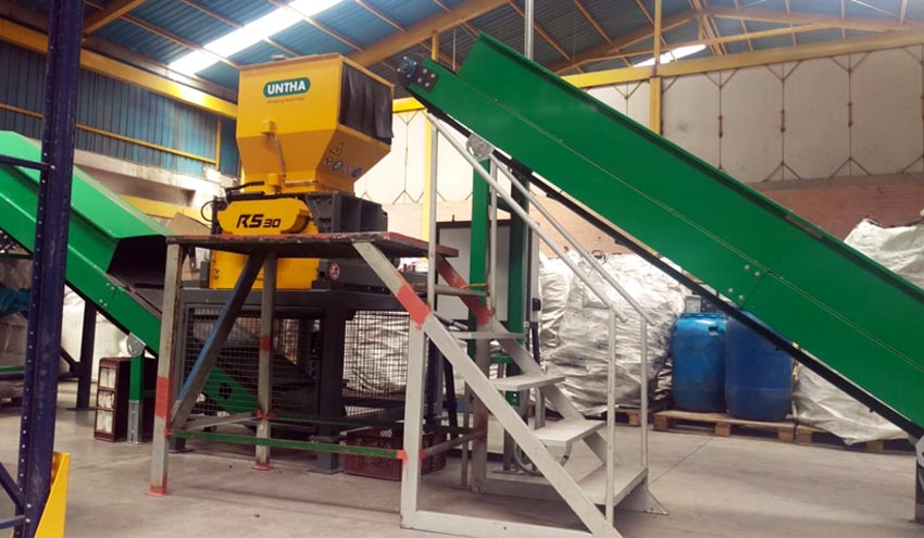 UNTHA IBERICA entrega un triturador de 4 ejes RS30 a Gaia Vitare