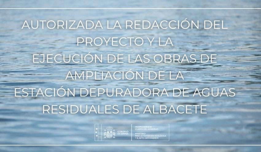 Autorizada la redacción del proyecto y la ejecución de la ampliación de la EDAR de Albacete