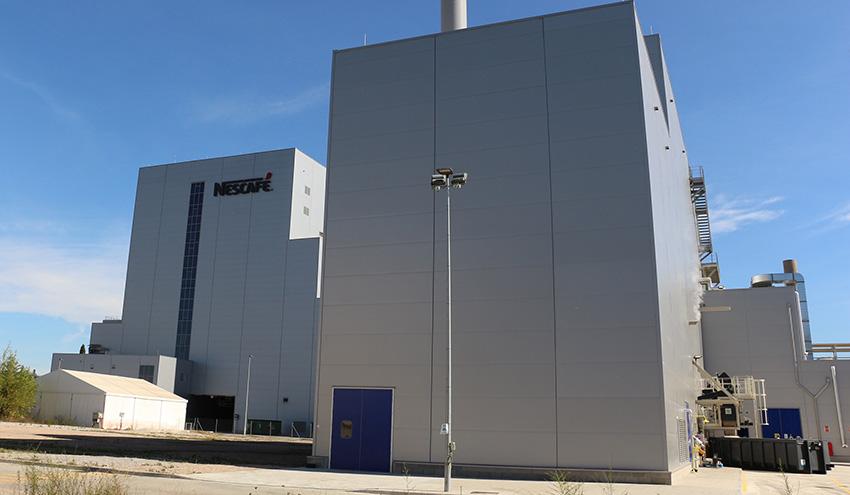 Nestlé pone en marcha una instalación para valorizar energéticamente los posos de café