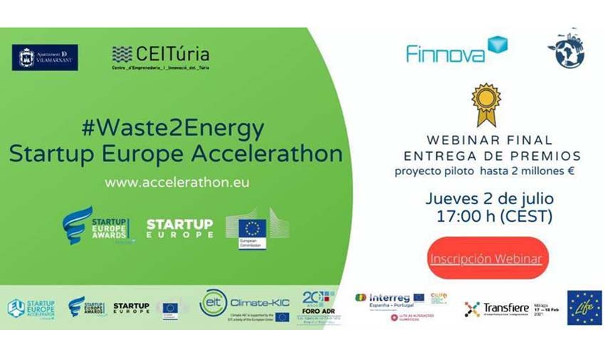 Llega la final de la competición de Waste 2 Energy Startup Europe Accelerathon