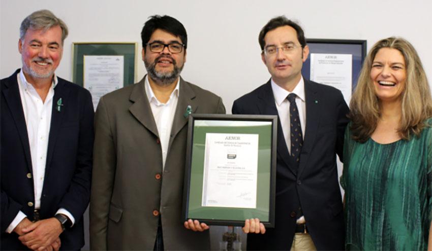 Ence Pontevedra recibe el certificado Residuo Cero