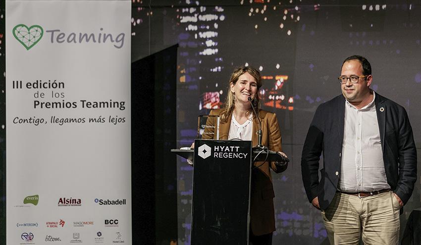 SUEZ recibe el reconocimiento de la Fundación Teaming como Empresa Más Solidaria