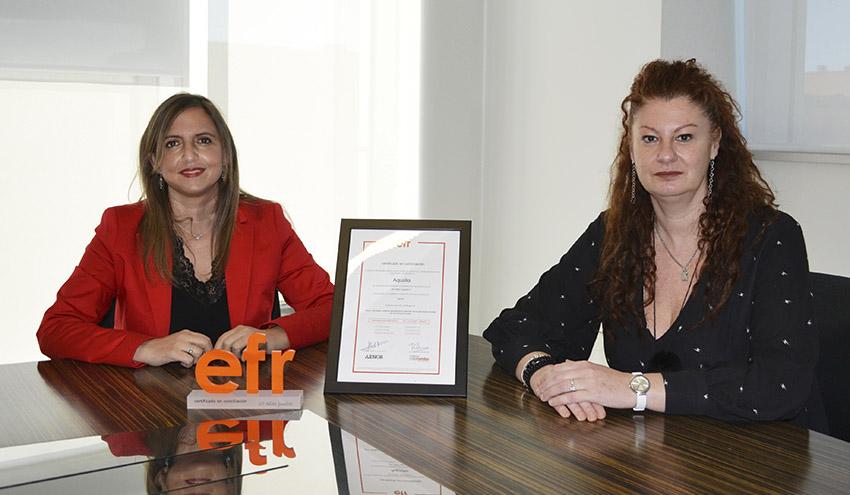 El avance de la conciliación laboral en Aqualia recibe reconocimiento con la renovación del sello EFR