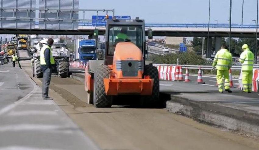 Nuevo firme para carreteras compuesto por árido siderúrgico procedente de escorias de acería