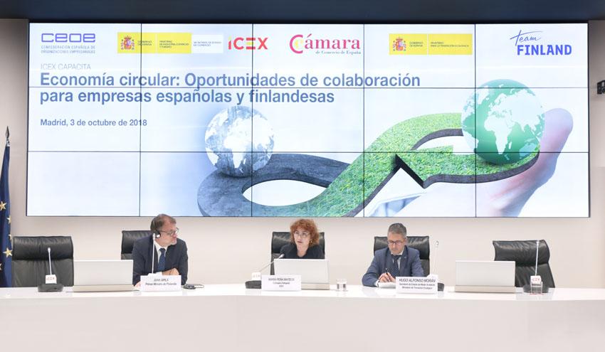 El primer ministro de Finlandia inaugura un encuentro sobre Economía Circular entre empresas españolas y finlandesas