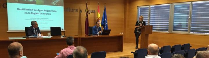 El Gobierno de la Región de Murcia estudia con los regantes el aprovechamiento directo del agua depurada