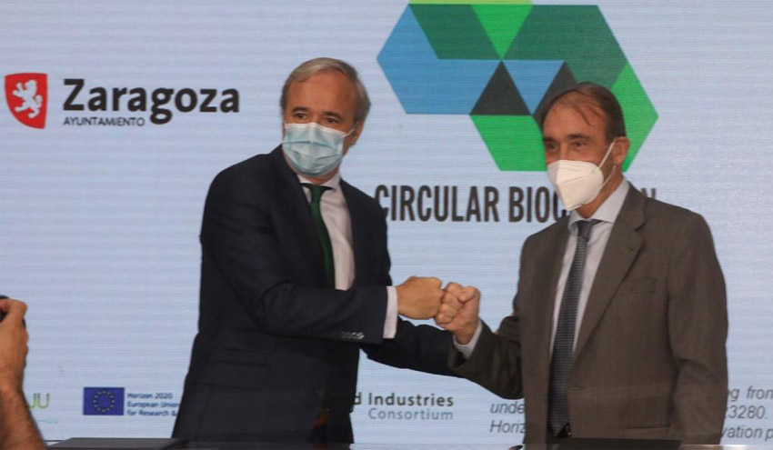 Zaragoza acogerá el proyecto CIRCULAR BIOCARBON para crear la primera biorrefinería urbana a escala industrial