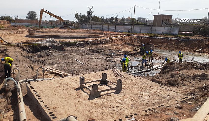 Avanzan las obras de la depuradora de Cambérène en Senegal, lideradas por Incatema