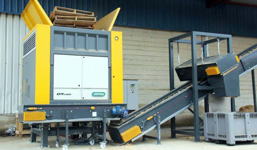 UNTHA Iberica entrega un equipo QR1400 para el reciclaje de palets