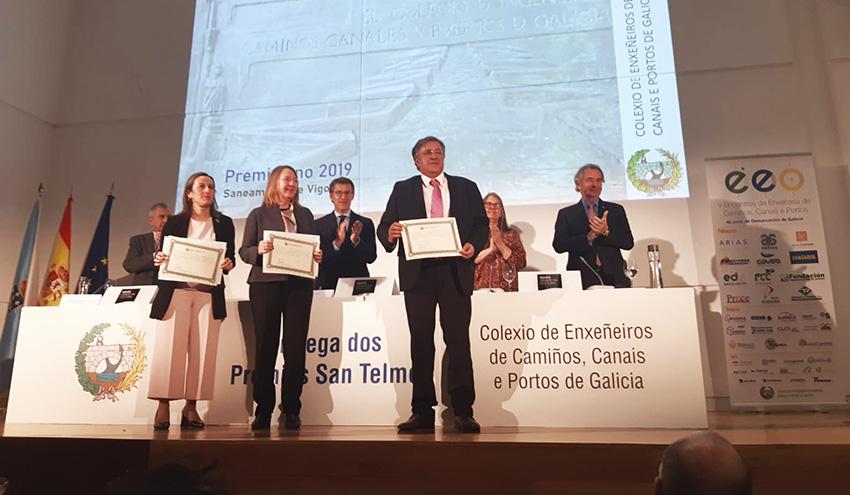 El proyecto 'Saneamiento de Vigo' recibe el premio como Mejor Obra de Ingeniería en los Premios San Telmo 2019