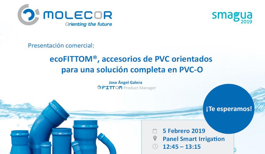 Molecor presentará en Smagua sus accesorios de PVC ecoFITTOM®
