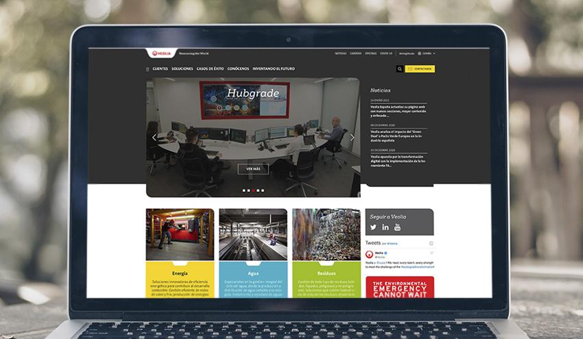 Veolia España actualiza su página web con nuevas secciones, mayor contenido y enfocada a sus clientes