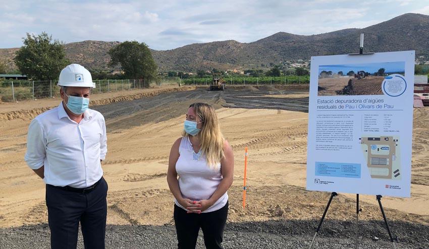 La ACA comienza las obras de la nueva depuradora de Pau, con una inversión de 2,7 millones de euros