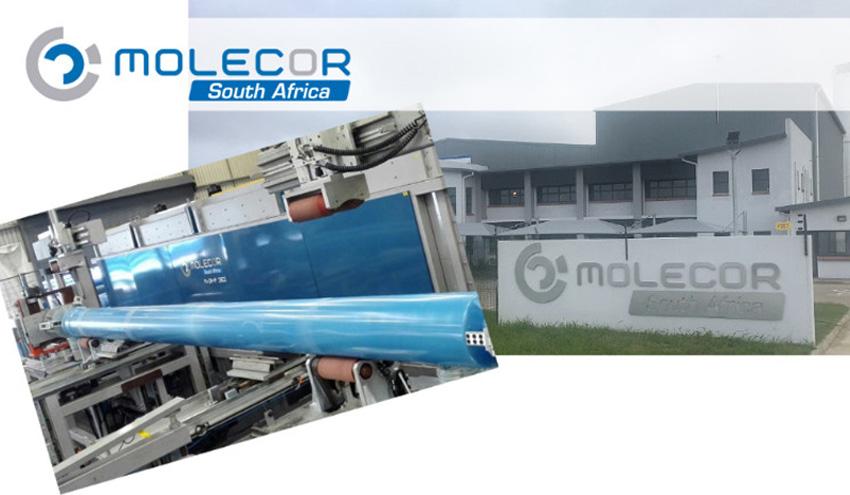 Molecor amplía la capacidad de producción de tuberías de PVC-O en Sudáfrica