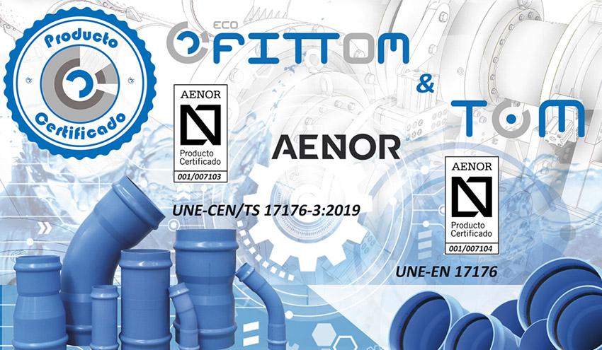 Molecor logra la Certificación UNE-EN 17176 para sus tuberías TOM® y accesorios ecoFITTOM®