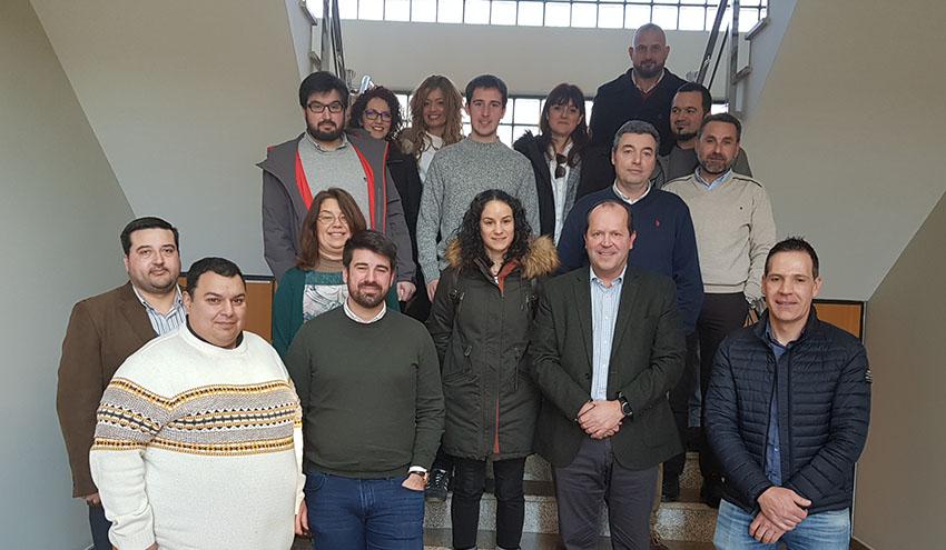 Representantes de empresas asociadas a Aproema visitan la nueva planta de Sogama