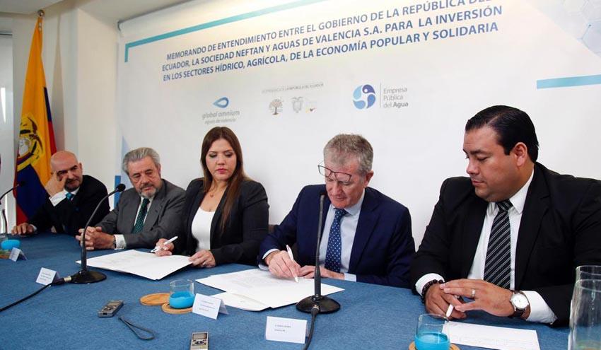 Global Omnium y el Gobierno de Ecuador crearán una empresa mixta para desarrollar obras hidráulicas