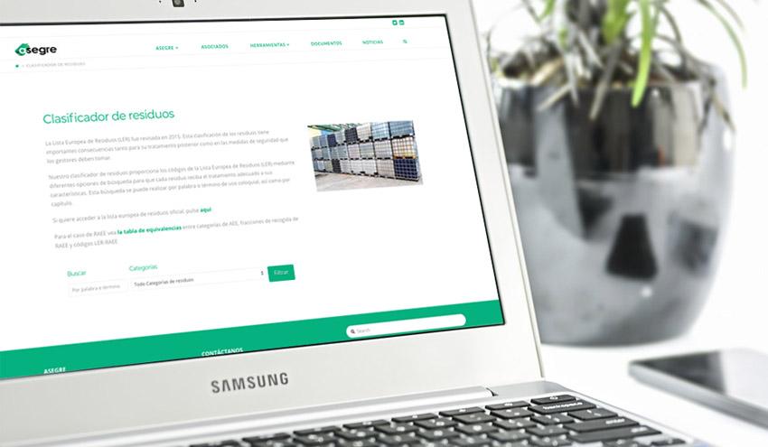 ASEGRE lanza el primer clasificador de residuos en su nueva página web