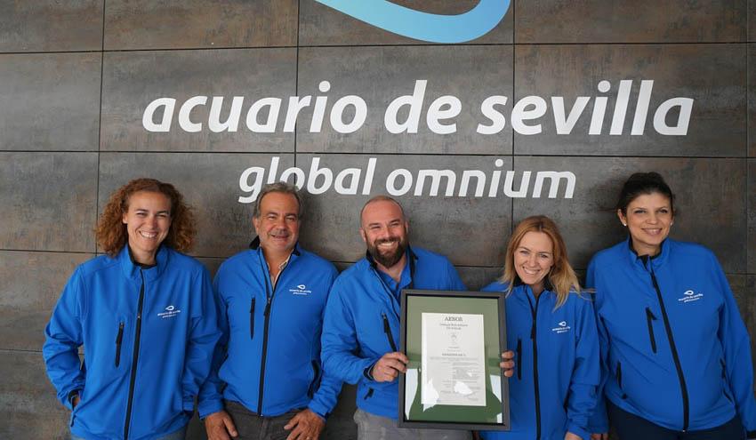 Global Omnium logra que el Acuario de Sevilla sea el primero del mundo en certificar su huella de carbono