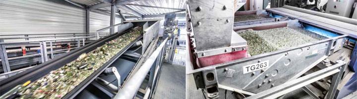Arranca la primera planta de reciclaje de vidrio del mundo capaz de separar el flujo de entrada en cuatro cualidades diferentes