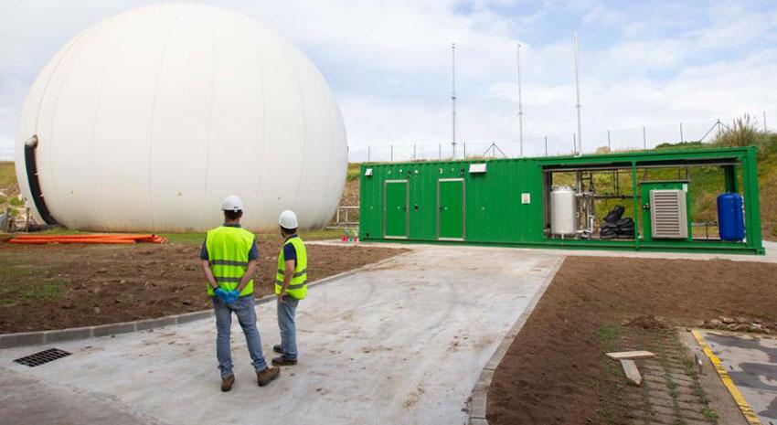 Completado el desarrollo de la planta piloto de la Unidad Mixta de Gas Renovable en la EDAR de Bens