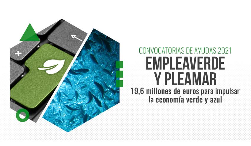Publicadas nuevas convocatorias de ayudas por 19,6 millones para el fomento de la economía verde y azul